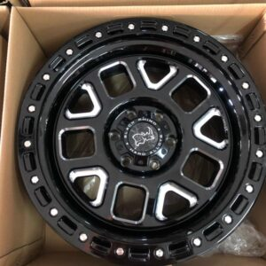 17″ Blackrhino Alpine Matte Black Bnew Mags 6Holes PCD139