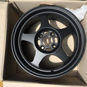 "15""Rota Slipstream Black 4Holes pcd 100 mags bnew"