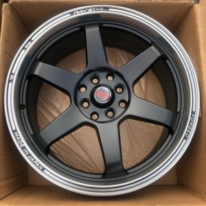 17″ TE37 Ultra Black JH0389 Mags 4Holes pcd 100 and 114 Bnew