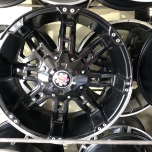 20″ Scarlet H103 Full Black with rivets new mags 6Holes PCD 139