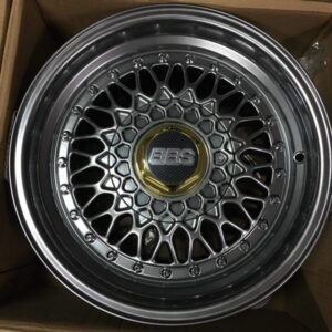 15″ BBS RS S135 Hyperblack Bnew mags(4H-PCD100-114)