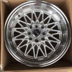 15″ XXR 553 Silver Mags 4Holes PCD 100-114