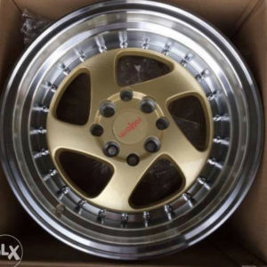 15″ Roti JH1097 Gold Bnew mags 4Holes PCD100-114
