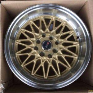 15″ XXR 553 Gold Mags 4Holes PCD 100-114