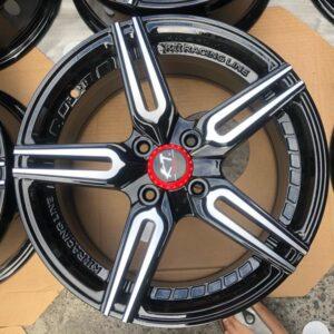 15 K2 Racing 0838 Mags 4Holes pcd 100 black undercut