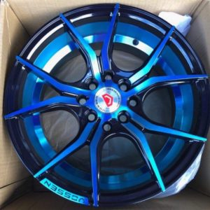 15 Mags Blue code QC5107 4Holes pcd 100 n 114 Brandnew mags