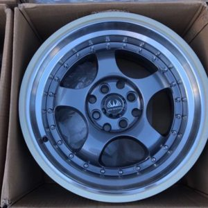 15×8.5 width Meister Mags stance code 55443 4Holes pcd 100 n 114