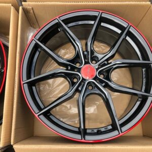 18″ A1014 Black with red trims 57Fxx mags 5 holes PCD 114