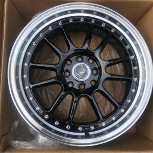 17 Hunter Mags code A1090 Black polish 4Holes pcd 100 n 114