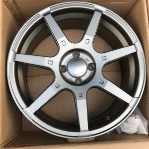 17 Rota GTR mags Matte Gray  4Holes pcd 100