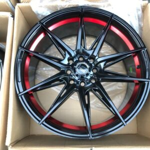 17″ Hunter wheels A0851 Black with red undercut bnew mags 4Holes PCD 100-114