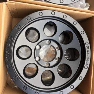 17×9 Yusta Racing code R48 matteblack 6Holes pcd 139 Bnew mags