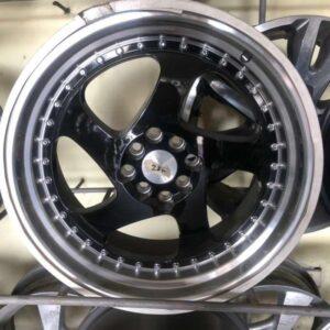 18 Rotiform magwheels 5Holes pcd 114 Black