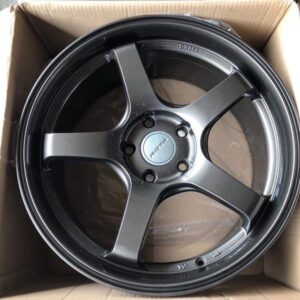 18″ Rota RT5-F Matte Gray Bnew mags 5Holes pcd 114