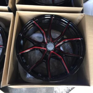 18 Dcenti Mags code STW531 5Holes pcd 108 Black with Red Trims fit Focus and Volvo