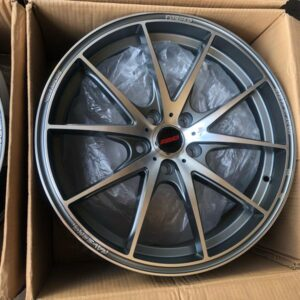 18″ Rays G25 Gunmetal Machine polish 5Holes pcd 112 For benz and audi
