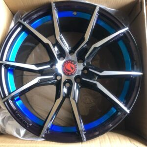 17″Black Horse Bnew code 175503 mags 4Holes PCD100-114 with Blue undercut