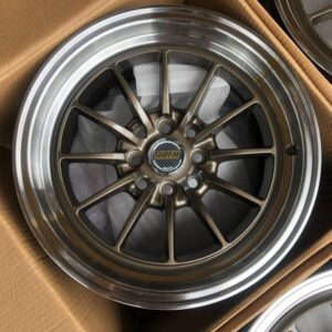 15″ x8.25 Volkrays Stance QC104 Bronze bnew mags  4Holes PCD100 and 114