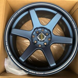 17″ Volkrays TE37 Ultra Blue Bnew code 176103 mags 4Holes PCD100-114