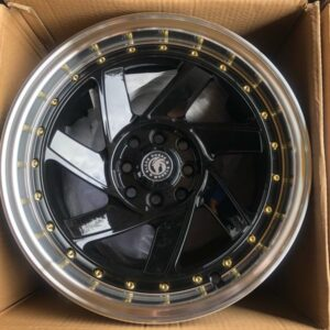 15″ x8.25 BlackHorse Stance QC726 Black bnew mags  4Holes PCD100 and 114