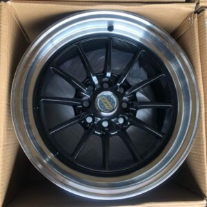 15″ x8.25 Volkrays Stance QC104 Black bnew mags  4Holes PCD100 and 114