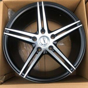 17 Trend 302 Black Polish Magwheels 5Holes PCD114 Brandnew