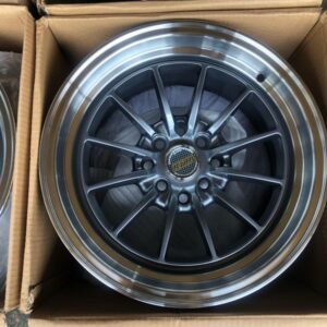 15″ x8.25 Volkrays Stance QC104 Gunmetal bnew mags  4Holes PCD100 and 114