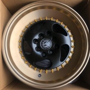 15″ x8.5 BlackHorse Stance QC5119 Black face bronze lip bnew mags  4Holes PCD100 and 114