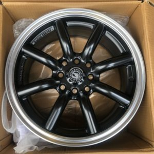 15″BlackHorse Banana type QC807 Matte Black bnew mags  4Holes PCD100 and 114