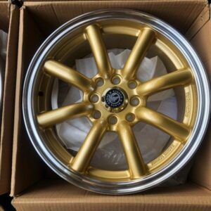 15″BlackHorse Banana type QC807 Gold bnew mags  4Holes PCD100 and 114