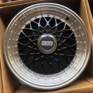 17″ BBS RS Black Polish Lip code QC112 bnew mags 4Holes PCD100 and 114
