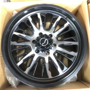 20″ Overland 1.21 BLack machine face Mags 6Holes PCD 139 Brandnew Magwheels