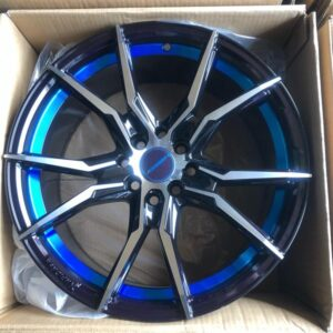 17″ Voss Bnew code 175503 mags 4Holes PCD100-114 with Blue undercut