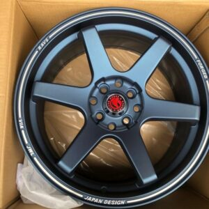 17″ Black Horse TE37 Ultra Blue Bnew code 176103 mags 4Holes PCD100-114