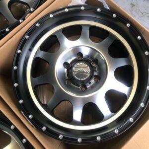 20″ Overland 1.23 Black Machine Mags 6Holes PCD 139 Brandnew Magwheels