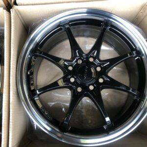 16″ Rota Fighter8 Yamaha black Polish Lip 4Holes pcd 100-114 Bnew mags