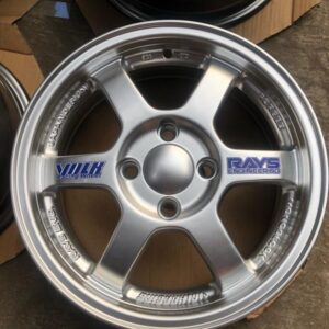14″ TE37 TY295 Mags Hypersilver 4holes pcd  100 bnew