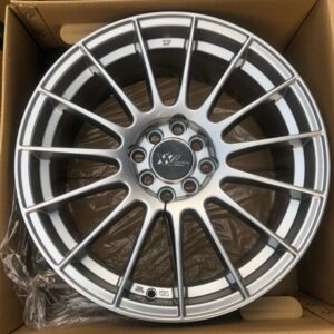 17″ Extreme wheels DXW017 Hypersilver Mags 4Holes pcd 100-114 Bnew