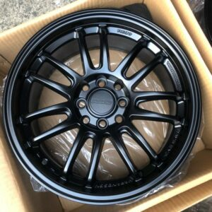 15″ RE30 Rays Design TY296 Black Mags 4Holes pcd 100-114