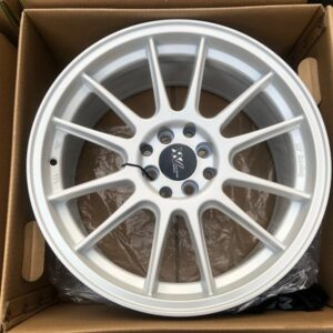 17″ Extreme wheels DXW018 Mags 4Holes pcd 100-114 Bnew white