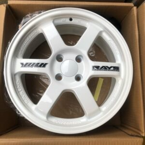 16″ Te37 White code TY295 Mags 4Holes pcd 100 bnew