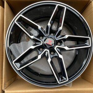 16″ Fast& Furious code A16014 Mags 5Holes pcd 114 Black Polish