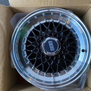 14″ BBS RS Black face mags(4H-PCD100-114)