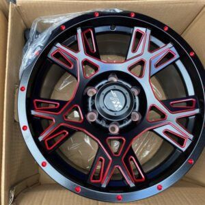 17″ Extreme wheels DXW029 Mags 6Holes pcd 114 MatteBlack with Red trims color