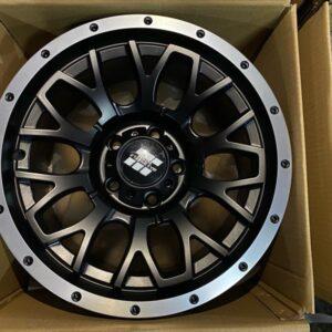 15″ Mas wheels QC1510 Black 5Holes pcd 114 Bnew mags