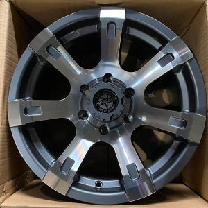 17″ Sheriff A303 Blue gray neg-6 offset American Outlaw Mags 6Holes pcd 139 bnew