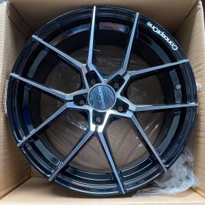 17″ Concept One Formula 8 BlackPolish Mags 5Holes pcd 114 Bnew