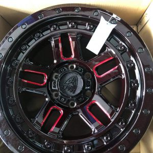 20″ Beast 9603 Red Gloss Black mags 6Holes pcd 139 Bnew