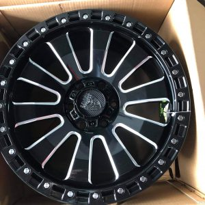 20″ Beast 9605 Gloss Black 6Holes pcd 139 Bnew mags