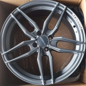 17″ Concept One Traction Gray Magwheels 4 Holes pcd 100 Bnew code IFG37